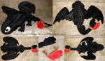 Large Toothless plush prototype by ShiroTheWhiteWolf
