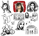 Doodle Dump 1 by SilenceoftheDawn