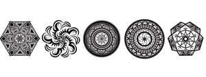 B/W Mandala Vector Sample Pack #1 by nomadmeowmi