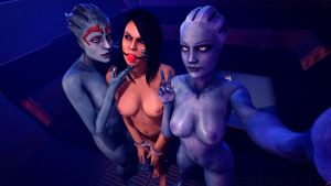 Selfie with Liara by Rescraft
