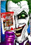 The Joker - coloured by TheWatcherOnTheWall