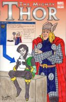 The Mighty Thor Blank Cover Art 2 by cardinalbiggles