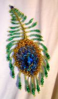 Peacock Feather Pendant by QuantumPhysica