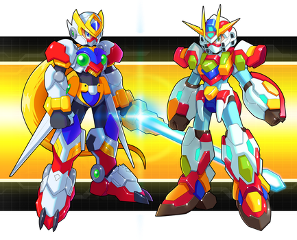 Commission  Zero And X Gundam Armors by V-a-a-N