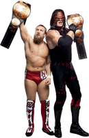 Kane And Daniel Bryan by SantiagoWWE12