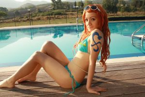 Nami 2YL,summer cosplay, 'Crimin' version by Mellorineeee