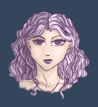 Purple hair by Rtist-Time