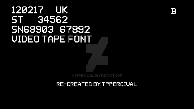 Video Tape Font by TPPercival