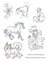Vesper Creature Contest Sketches 2 by MoonsongWolf