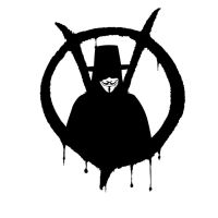 V for Vendetta Stencil Cut 1 by Temidien