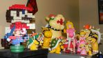 Bowser and Peach figurines collection by stardust4ever