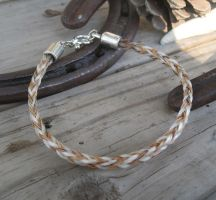 Braided Horsehair Bracelet - Rory and Wildfire by TarpanBeadworks