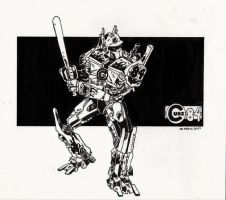 Optimus of the Chicago Cubs by NevicStudios