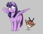 Twilght and Hoothoot by troudi94