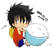 Chibi Luffy. 'This is mine' by Kimoto-chan