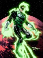 Green Lantern 4 fun colours by thatron