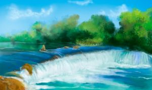 Flash mob_Landscapes_waterfall by Stasushka