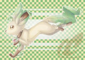 Eukie Leafeon by mmishee