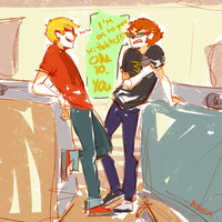 drunk dave and sollux by Kayia