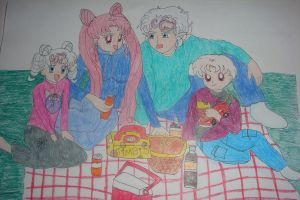 Picnic with the family by silvermoonmagic