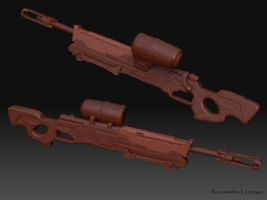 Gears of War Sniper Rifle by KonstantinL