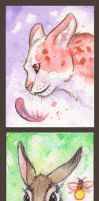 ACEO Cards: Small Gods by MoonsongWolf