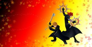 RE Roxas and Axel wallpaper by RoxasTsuna