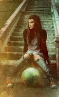 on the stairs by Anti-Pati-ya