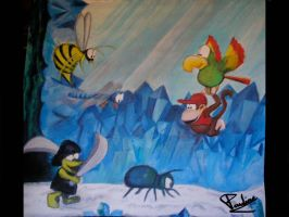 Donkey Kong Country 2 Diddy by pauline86