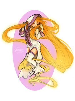 White Mage Rapunzel by Skirtzzz