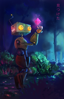 robot by switch-on-the-lights
