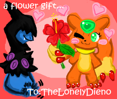 A flower Gift To The LonelyDieno by RagingLove