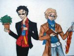 Good Omens  Crowley and Aziraphale by Lilithart13