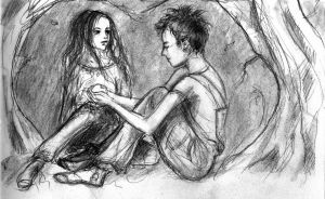 Child Edward and Child Bella - Preliminary Sketch by LittleSeaSparrow