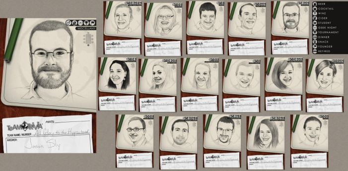 Trivia Team Trading Cards by JRSly