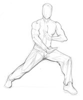 Action Pose Study 1 by JamesConway