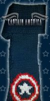 Captain America Sheild Scarf by MadMouseMedia