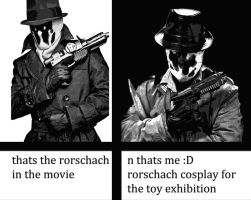 RORSCHACH COSPLAY by Nik-Hill