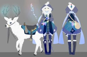 Snow witch adopt auction CLOSED by sounds-like-balloons