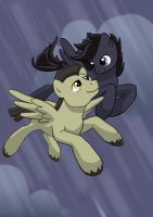 Two pegases by Shaggy-grim