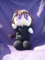 Duo Maxwell chibi plushie by AdorkableByDesign1