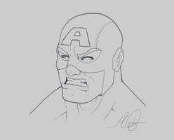 Captain Head shot by RAYN3R-4rt