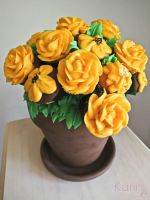 Yellow Cupcake Bouquet by SkuttyWan