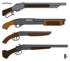 Sawed-Off Shotguns by MunkenDronkey