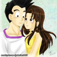 Goten x Paresu gift art by amethyst-rose