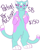 Bifaced pastel cat partial for auction! by furbabe