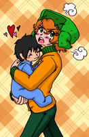 South Park - Ike+Kyle brotherly love by Cloud-Kitsune