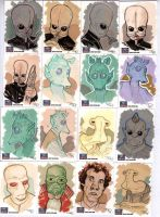 STAR WARS Sketchcards - Greedo and Co by DenisM79