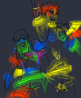 Rave Bros by CacklingJackal