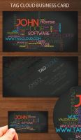 Tag cloud business card by kimi1122